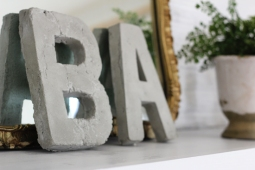 BA concrete-letters