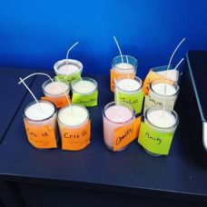 candles made in class Shelly T august