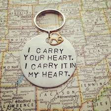 carry your heart keychain