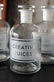 etched bottle creative juices