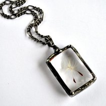 stained glass dandelion pendant